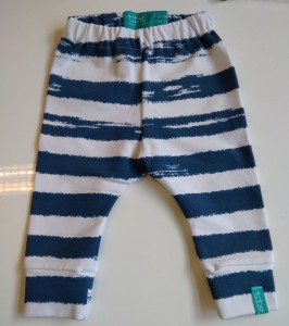3-6 mcy 68 cm Blue Stripes Legginsy