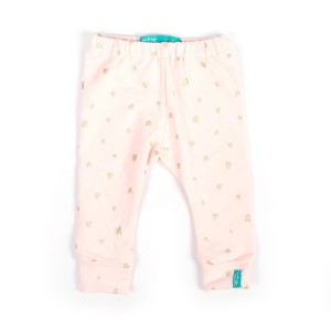9-12 mcy 80 cm Pink Hearts Legginsy