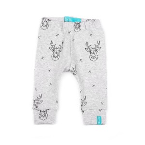 9-12 mcy 80 cm Grey Deer Legginsy